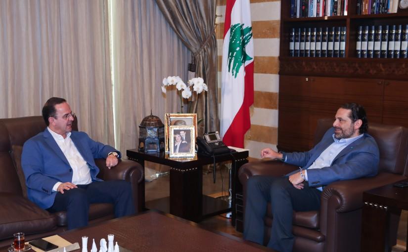 Pr Minister Saad Hariri meets Minister of Tourism