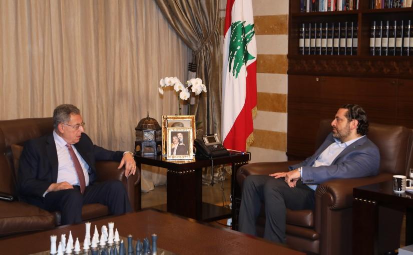 Pr Minister Saad Hariri meets Former Pr Minister Fouad Siniora