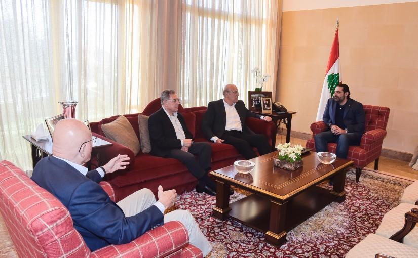 Pr Minister Saad Hariri meets Former Pr Minister Najib Mikati & Former Pr Minister Fouad Siniora & Former Pr Minister Tammam Salam