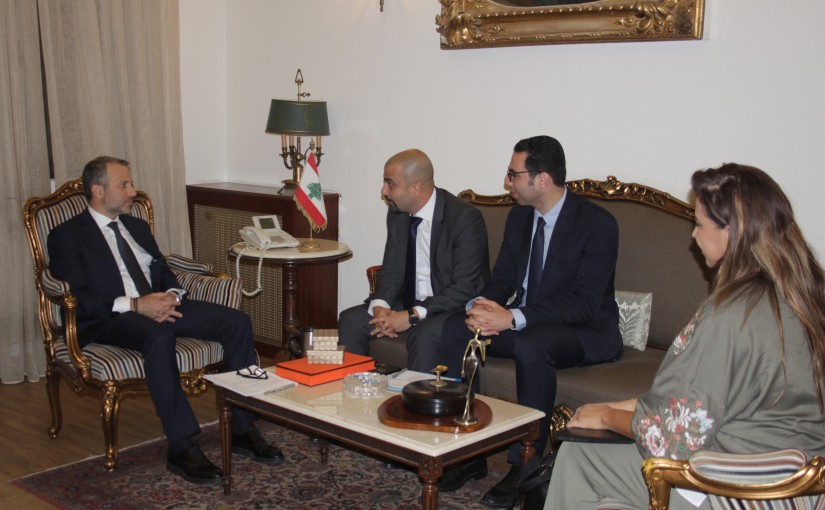 Minister Gebran Basil Meets Director and Regional Representative of the United Nations Office Program West Asia Environment Sami Dimassi