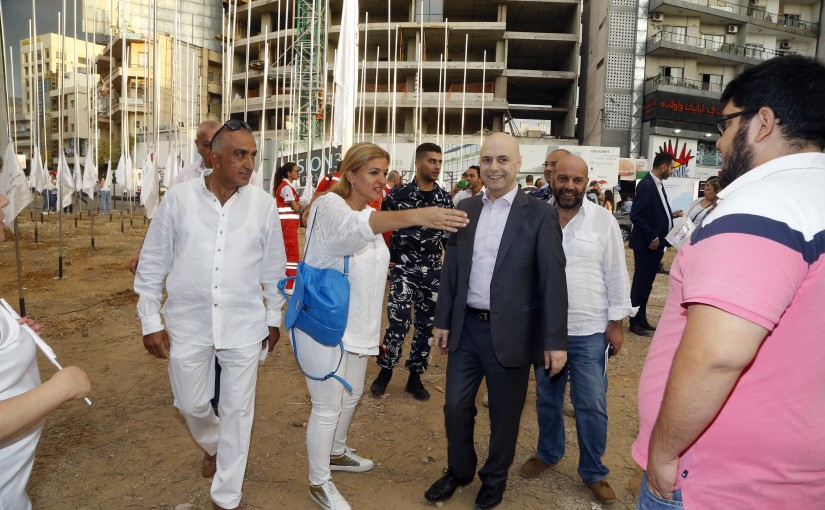 Minister Ghassan Hassbani Celebrating the Drug Day in Dora
