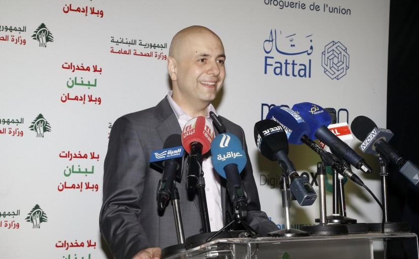 Minister Ghassan Hassbani Celebrating the Drug Day in Dora