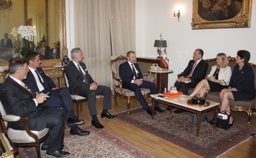Minister Gebran Basil Meets a Delegation From The American Task Force For Lebanon