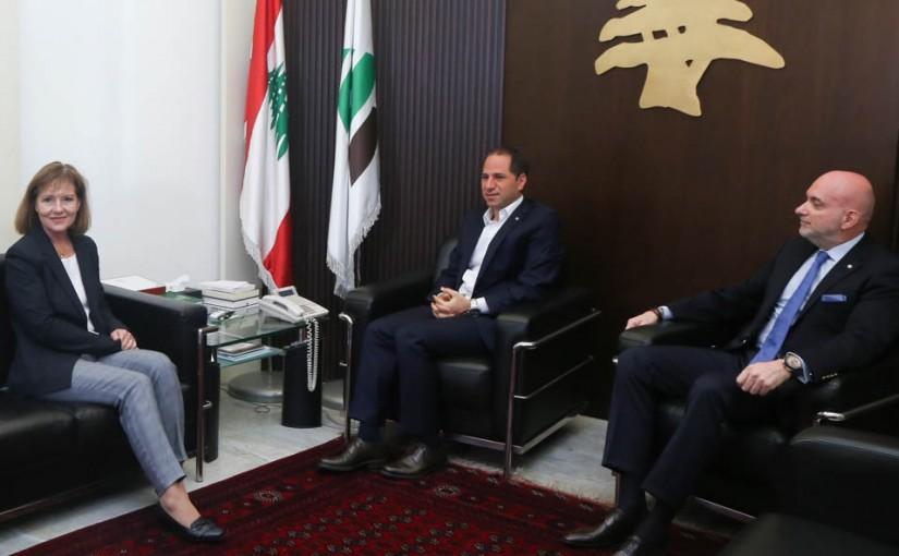 MP Sami Gemayel Meets US Ambassador