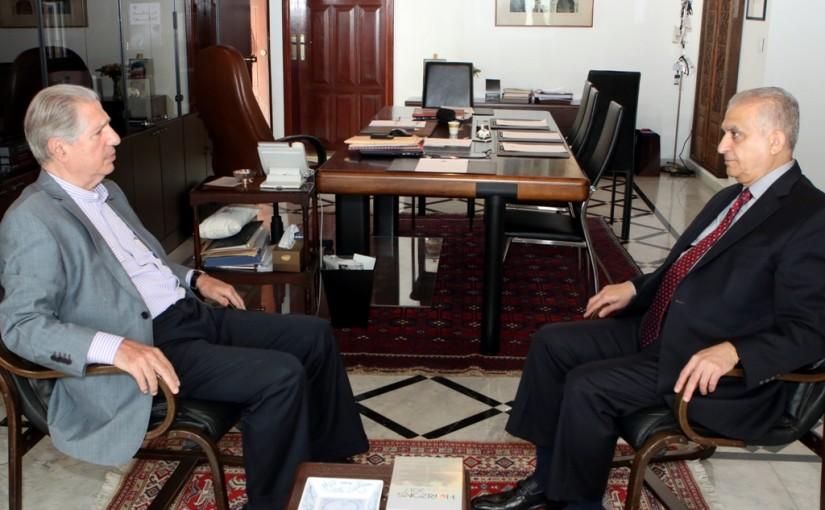 Former President Amine Gemayel Meets Mr Mohamad Ali Hakim