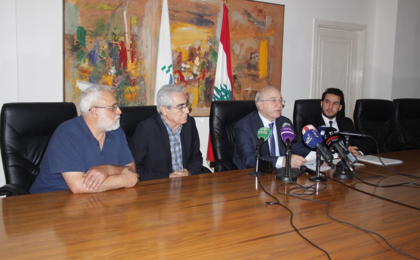 Press Conference For Minister Ghatas Khoury