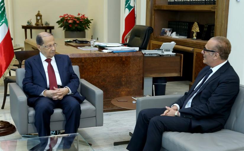 President Michel Aoun meets MP Joseph Karaki