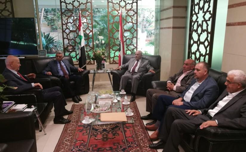 Minister Abdel Rahim Mrad Meets a Delegation From Arkoub & Shebaa