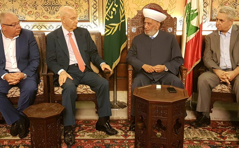 Mufti Abdel Latif Derian Meets MP Abdel Rahim Mrad