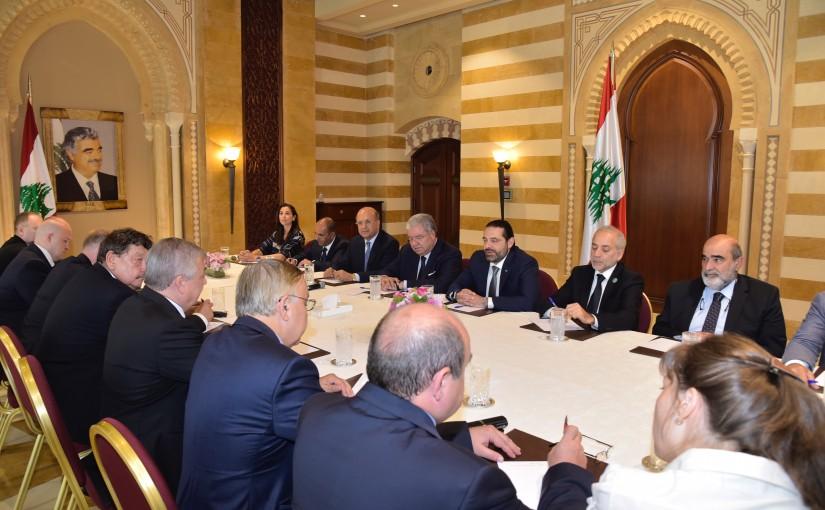 Pr Minister Saad Hariri meets a Russian Envoy