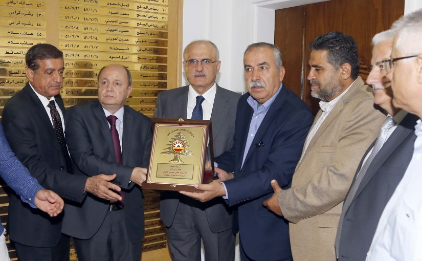 Minister Ali Hassan Khalil Meets a Delegation From The General Labor Federation