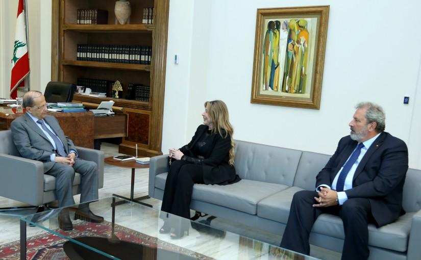 President Michel Aoun meets Amb. Yvon Abed Elbaki.