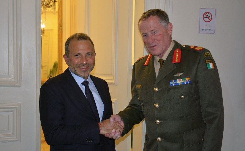 Minister Gebran Basil Meets Commander of the United Nations Interim Force in Lebanon Major General Michael Beary