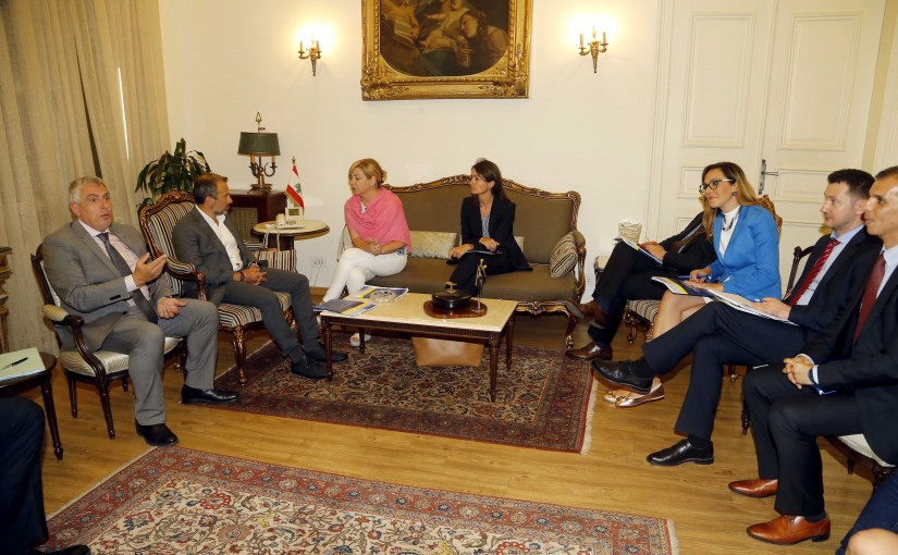 Minister Gebran Basil Meets Elena Valenciano Head of The European Union's Observation Mission to Monitor the Preparations and Organization of the Vote