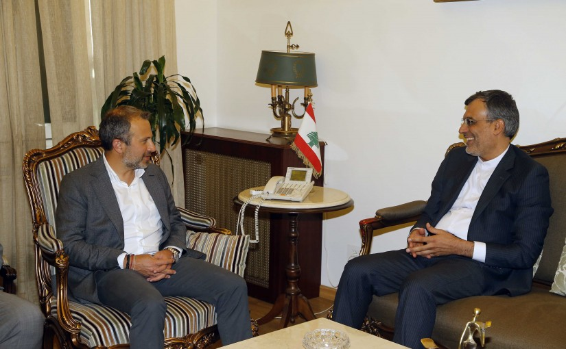 Minister Gebran Basil Meets Iran Assistant Foreign Minister for Arab & African Affairs Hossein Jaberi Ansari