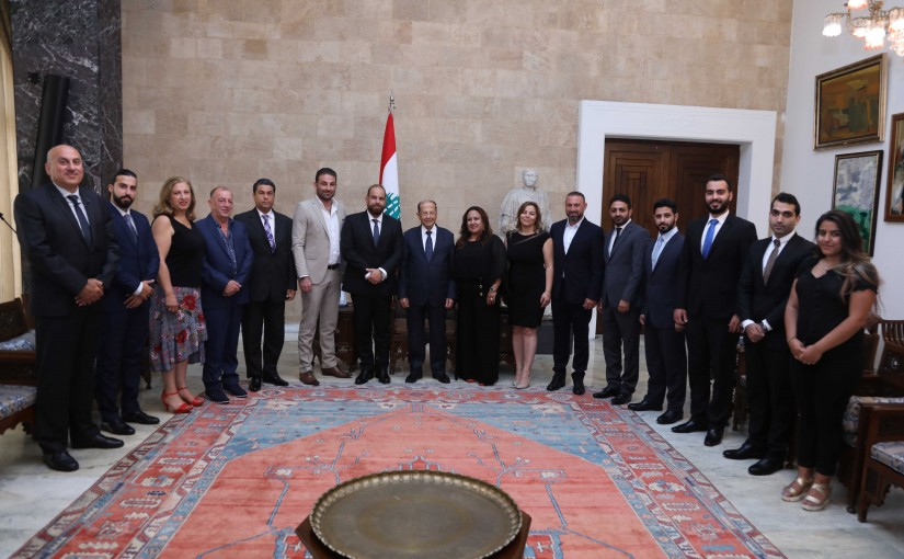 President Michel Aoun Meets a Delegation of Lebanese Expatriates in Canada