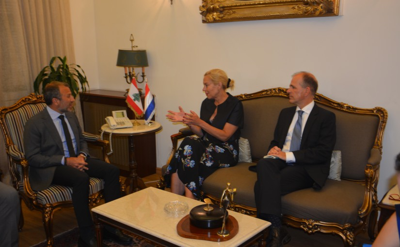 Minister Gebran Bassil meets Holland Minister Sigrid Kaag