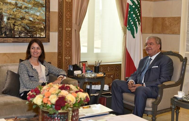 Minister Nouhad El Machnouk Meets European Ambassador