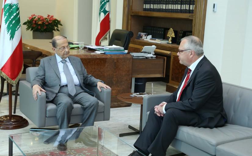 President Michel Aoun Meets Finland Ambassador