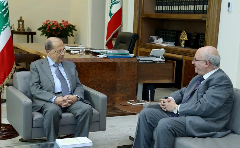 President Michel Aoun meets Former MP Nasser Kandil