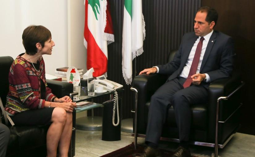MP Sami Gemayel Meets Mrs Mireille Gerard