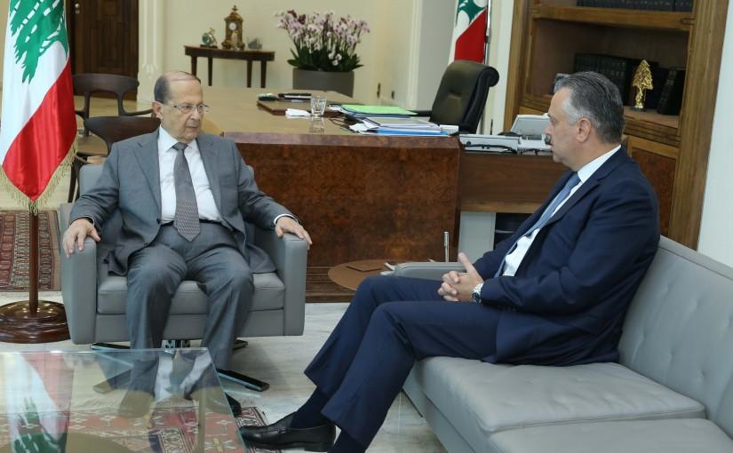 President Michel Aoun Meets MP Hadi Hbeich