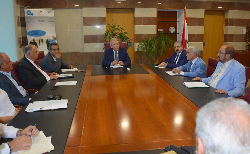 Minister Marwan Hemede Meets a Delegation From The Council of Higher Education