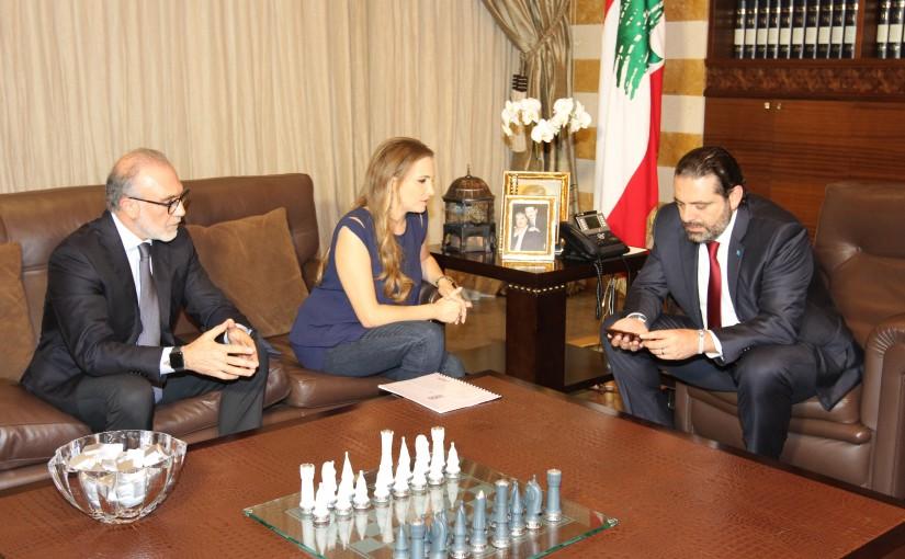 Pr Minister Saad Hariri meets Mrs Tania Kassiss