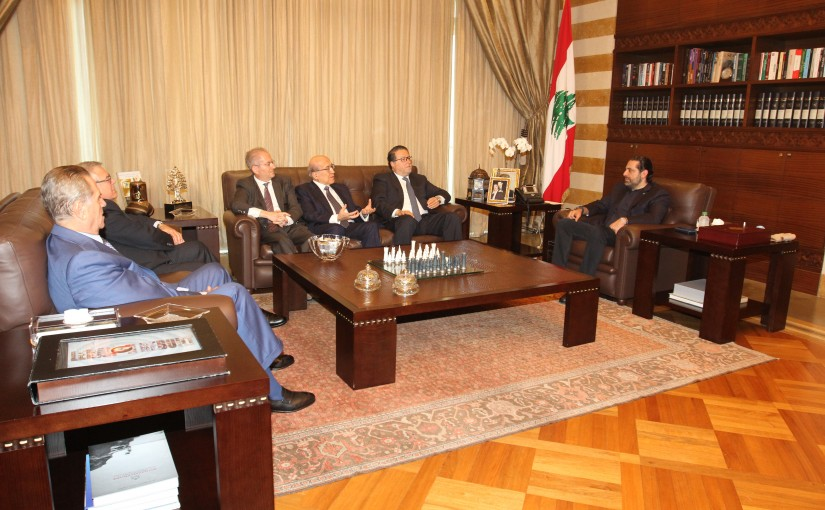 Pr Minister Saad Hariri meets Mouhamad Choukair with a Delegation