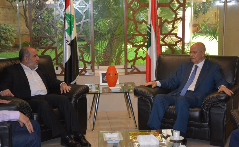 MP Abdel Rahim Mrad Meets a Delegation From The Islamic Group