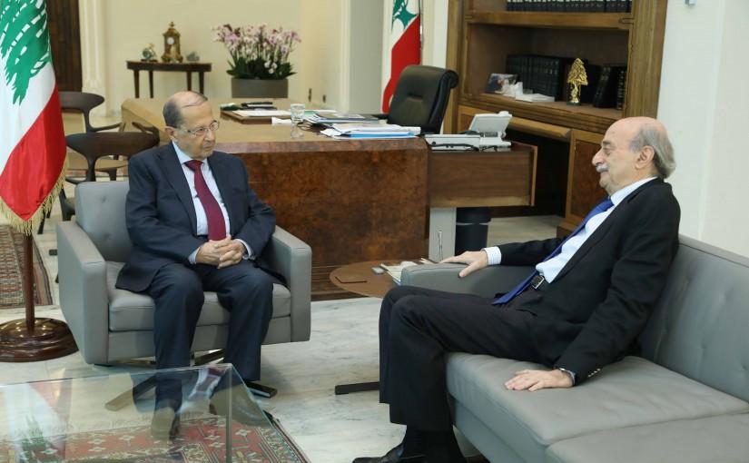 President Michel Aoun Meets MP Walid Jumblat