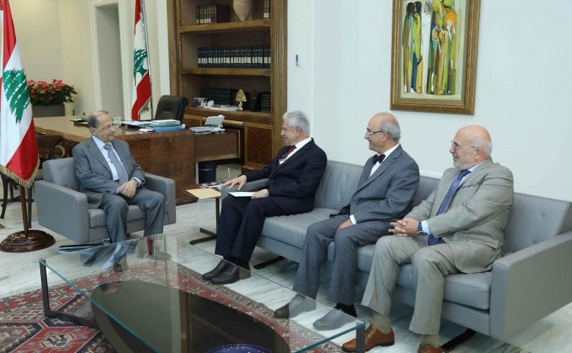 President Michel Aoun Meets a Delegation From LAU University
