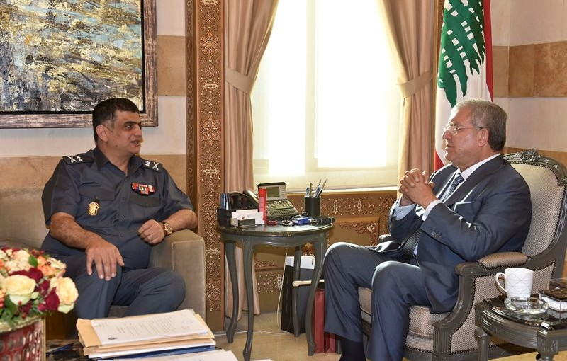Minister Nouhad El Machnouk Meets Major General Imad Osman