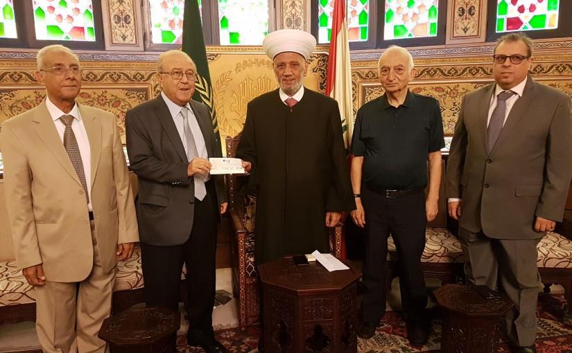 Mufti Abdel Latif Derian Meets a Delegation From Makased Association