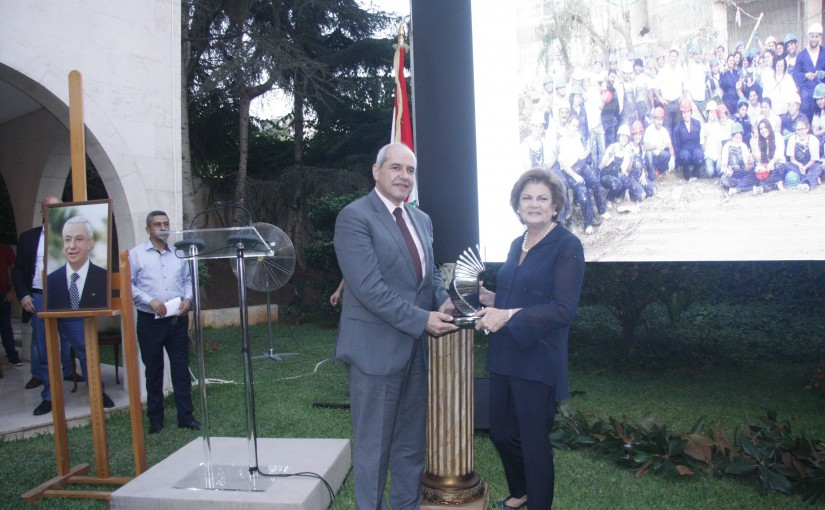 "President Elias Hrawi's Commemoration Committee presenting the annual ""Elias Hrawi Award"""