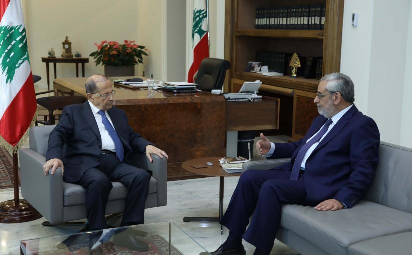 President Michel Aoun Meets MP Agop Pakradounian
