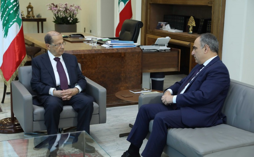 President Michel Aoun Meets MP Ziad Aswad