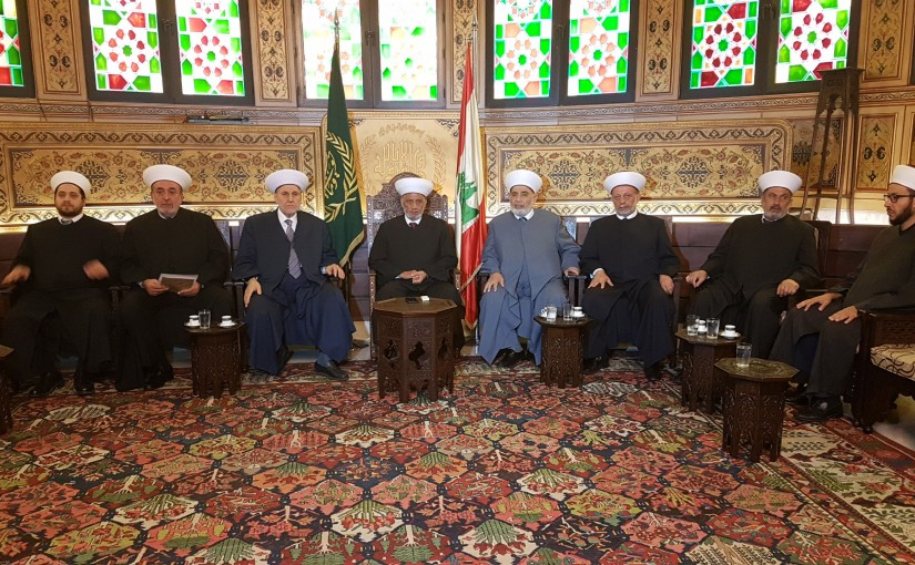 Mufti Abdel Latif Derian Meets a Delegation of Mufties