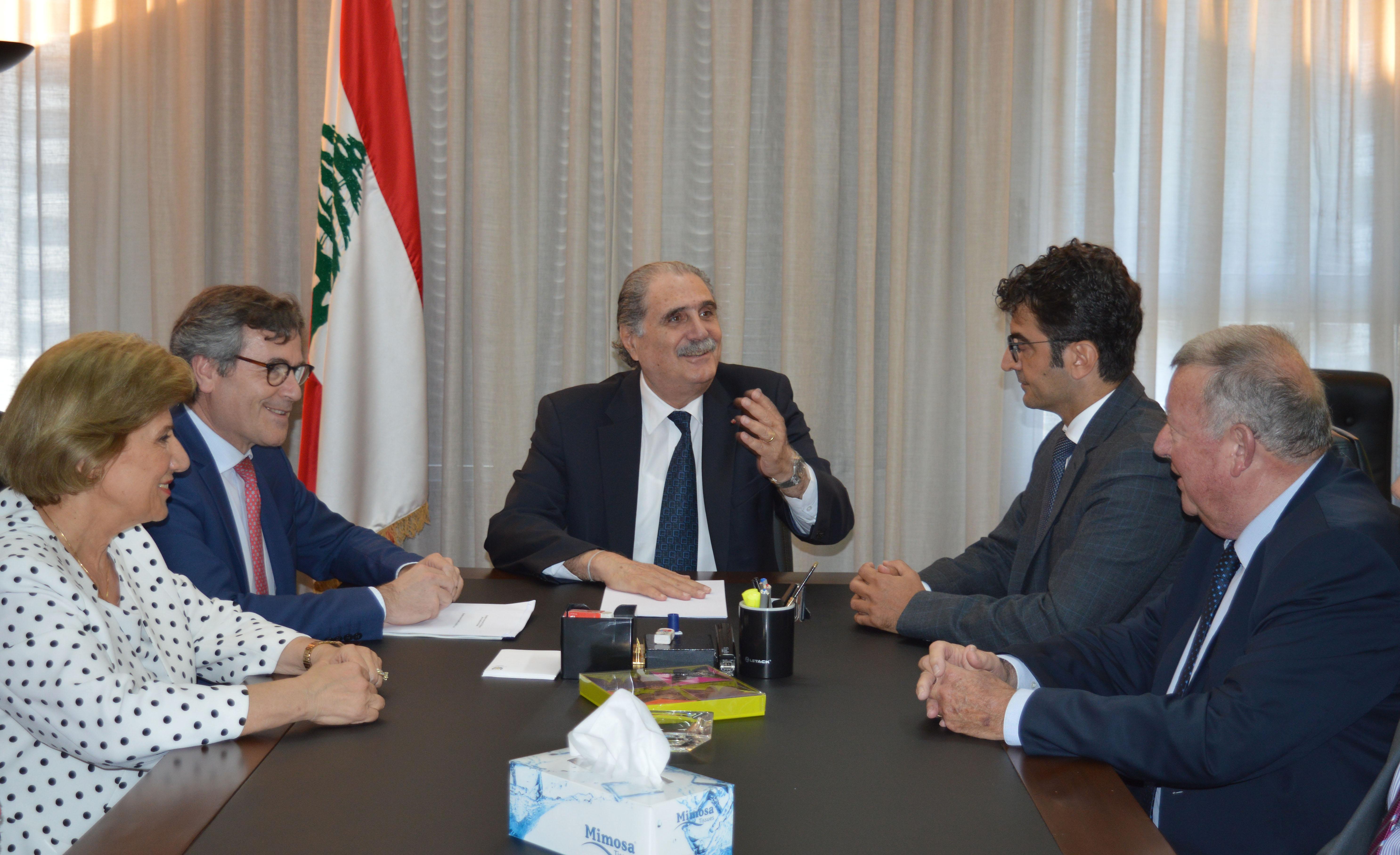 Minister Selim Jreissati meets Didier Coiffard