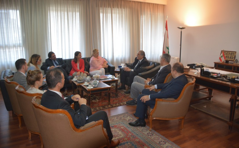 Minister Selim Jreissati meets Elena Valenciano Head of The European Union's Observation Mission to Monitor the Preparations and Organization of the Vote .