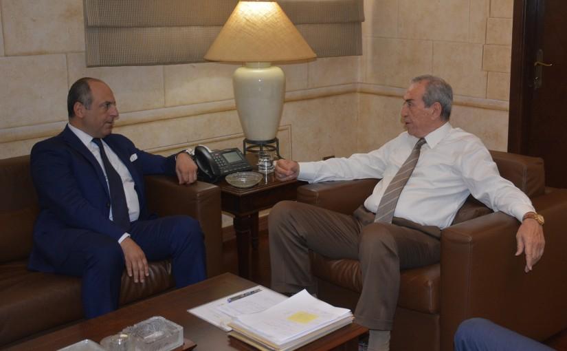 Mr Nabil Jessir Meets Minister Pierre Bou Assi