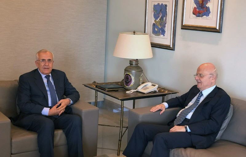 Former President Michel Sleiman Meets MP Jean Obeid