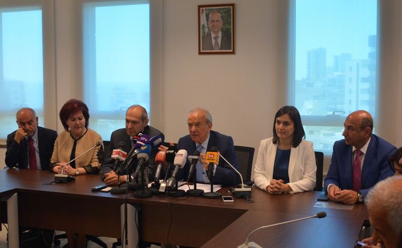 Press Conference For Minister Marwan Hemedeh