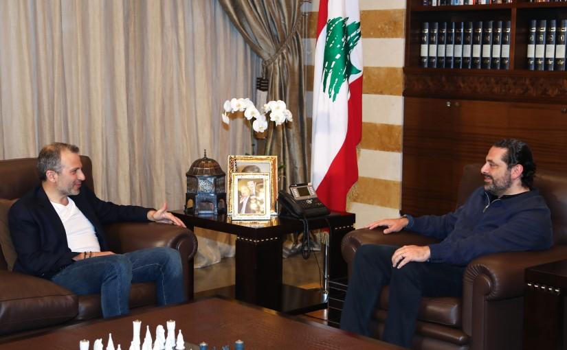Pr Minister Saad Hariri meets Minister Gebran Bassil