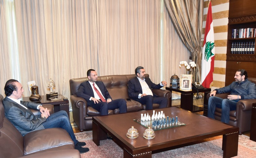 Pr Minister Saad Hariri meets Mr Ahmad Sakal With a Delegation