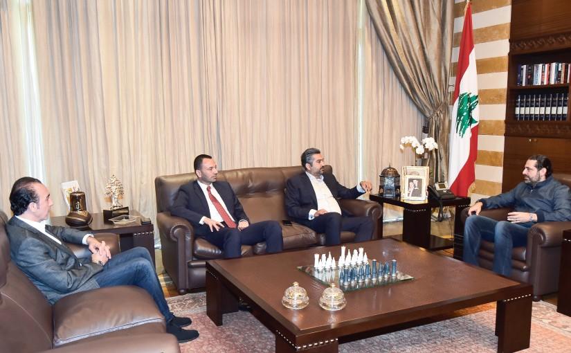 Pr Minister Saad Hariri meets Mr Ahmad Sakal With a Delegation