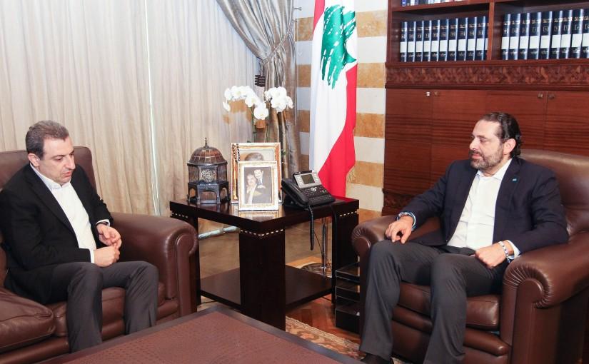 Pr Minister Saad Hariri meets Minister Wael Abou Faour