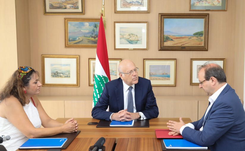 Former Pr Minister Najib Mikati meets A delegation from the Legal Note