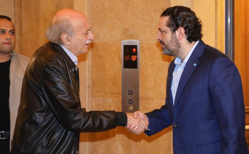 Pr Minister Saad Hariri meets Mr Walid Jounblat
