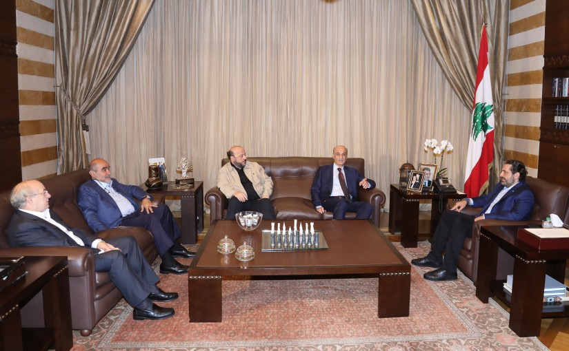 Pr Minister Saad Hariri meets Head of Lebanese Forces Samir Geagea